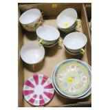 Lot, Oriental cups and saucers