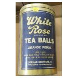 White Rose tea ball tin, no top