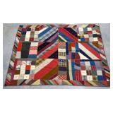 Handmade tie quilt