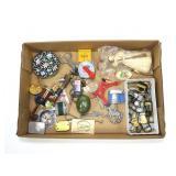 Lot, thimbles, lighters, pipe, Cloisonne, misc