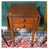 Drop leaf stand with 2 drawers