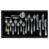 18- Sterling flatware pieces, Fairfax by Gorham,