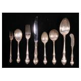 """35- Piece Sterling flatware set, Gorham """"English"""