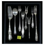 Lot, Sterling forks and spoons, 8 pcs.
