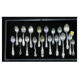 Lot, Sterling souvenir demitasse spoons (173.4 Gr.