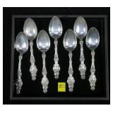 "7- Sterling 5 1/2"" teaspoons, Lily by Whiting,"