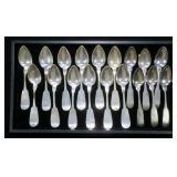 18- Coin silver teaspoons (292.7 Gr. T.W.)