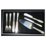 Lot, Sterling handled serving pieces, 7 pcs.