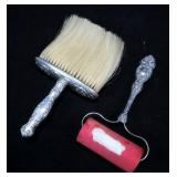 Lot, Sterling crumb brush and roller