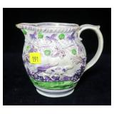"Majolica pitcher, 5"" H"