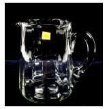 Glass blown pitcher, unsigned with ground pontil,