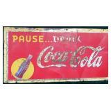 """Vintage Coca-Cola metal sign, """"A.A.W. 2-39"""","""