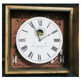 "Mahogany wall clock, ""Self Winding Clock Co. New"