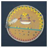Abenaki  Indian shield with turkey feather, 2