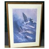 "Print, ""Stormy Wind,"" signed Alice Taylor, framed,"