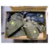 Lot, pistol belts, canteen, ammo pouches