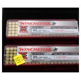 2- Cases of Winchester .22 LR cartridges,