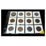 12- U.S. large cents 1831-1851