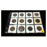 12- U.S. large cents 1822-1852