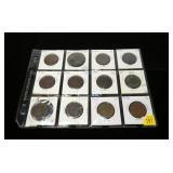 12- U.S. large cents 1833-1851