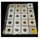 Partial set Lincoln cents: 1909-1946, 71 pcs.