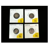 4- Seated Liberty dimes: 2-1875-CC, 2-1877-CC