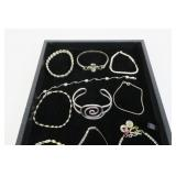 Lot, sterling silver bracelets, 13 pcs.