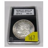 1879-S (Rev. of 1879) Morgan dollar, MS-63