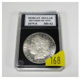 1879-S (Rev. of 1879) Morgan dollar, MS-62