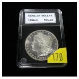 1880-S Morgan dollar, MS-62