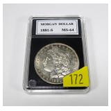 1881-S Morgan dollar, MS-64