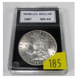 1887 Morgan dollar, MS-64