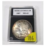 1887 Morgan dollar, MS-62