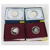 4- 1982 Washington half dollars, 90% silver:
