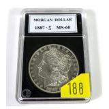1887-S Morgan dollar, MS-60
