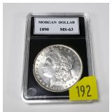 1890 Morgan dollar, MS-63