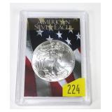 2018 American Silver Eagle, gem BU