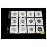 12- State quarters, mixed dates, uncirculated