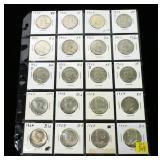 20- Half dollars, 90% silver