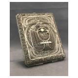 Older filigree silver plated brass cigarette case