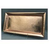 Large hammered solid copper platter