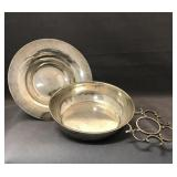 Silver wine tasting dishes, 166.6g
