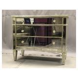 Hollywood Regency style mirrored dresser