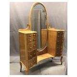 Art Deco Birdseye Maple dresser with mirror