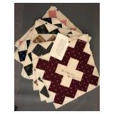 (26) 1895 quilt squares with provenance