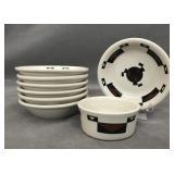 Ahwahnee Hotel 9 piece bowls +  ramekin