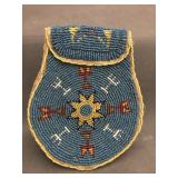 Paiute American Indian color beaded pouch ca 1930
