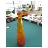 Crackle Glass Bottle & Stopper