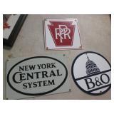 Several Porcelain Railroad Signs