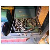 Antique Hand Drill, Bits & Orig Box